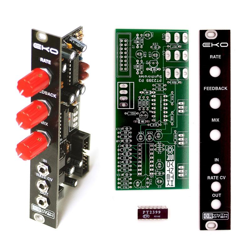 Synthrotek EKO Delay PCB+Panel+Chip