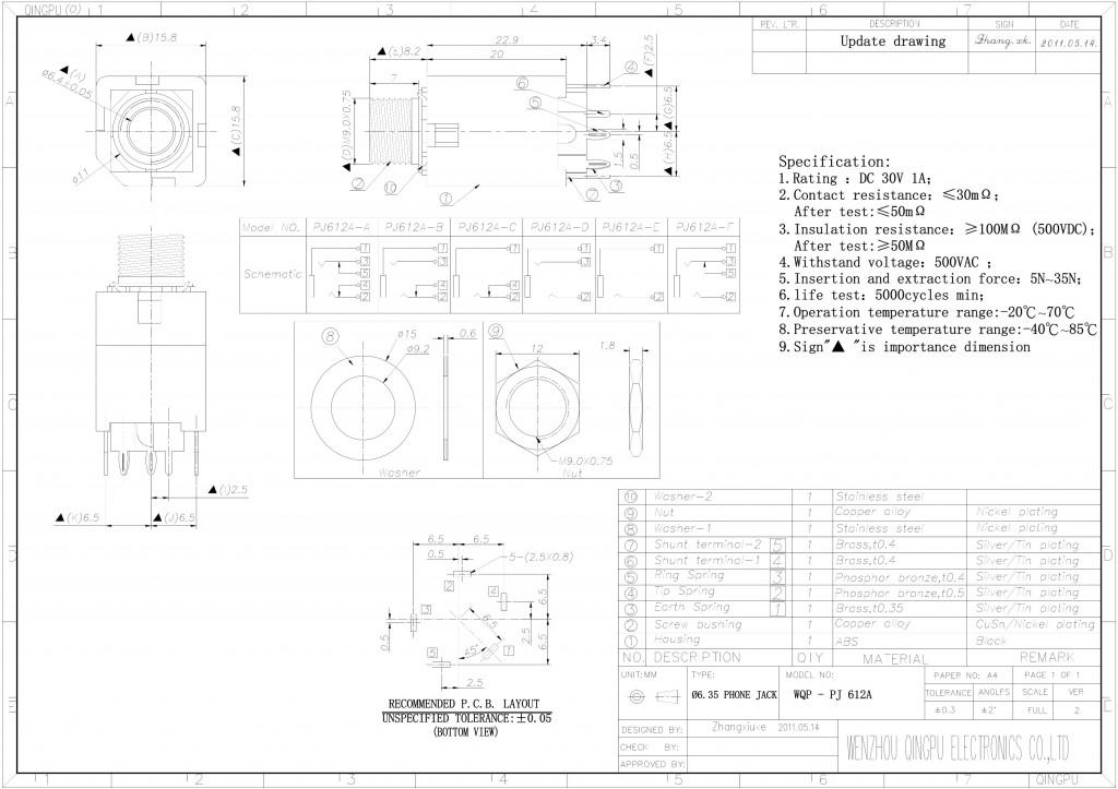 PJ612A Datasheet