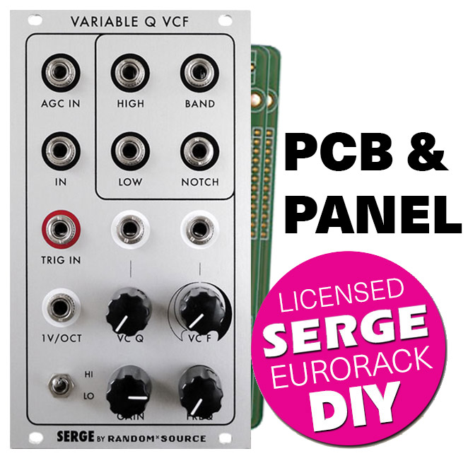 Eurorack Serge Variable Q (VCFQ) - Panel + PCB set