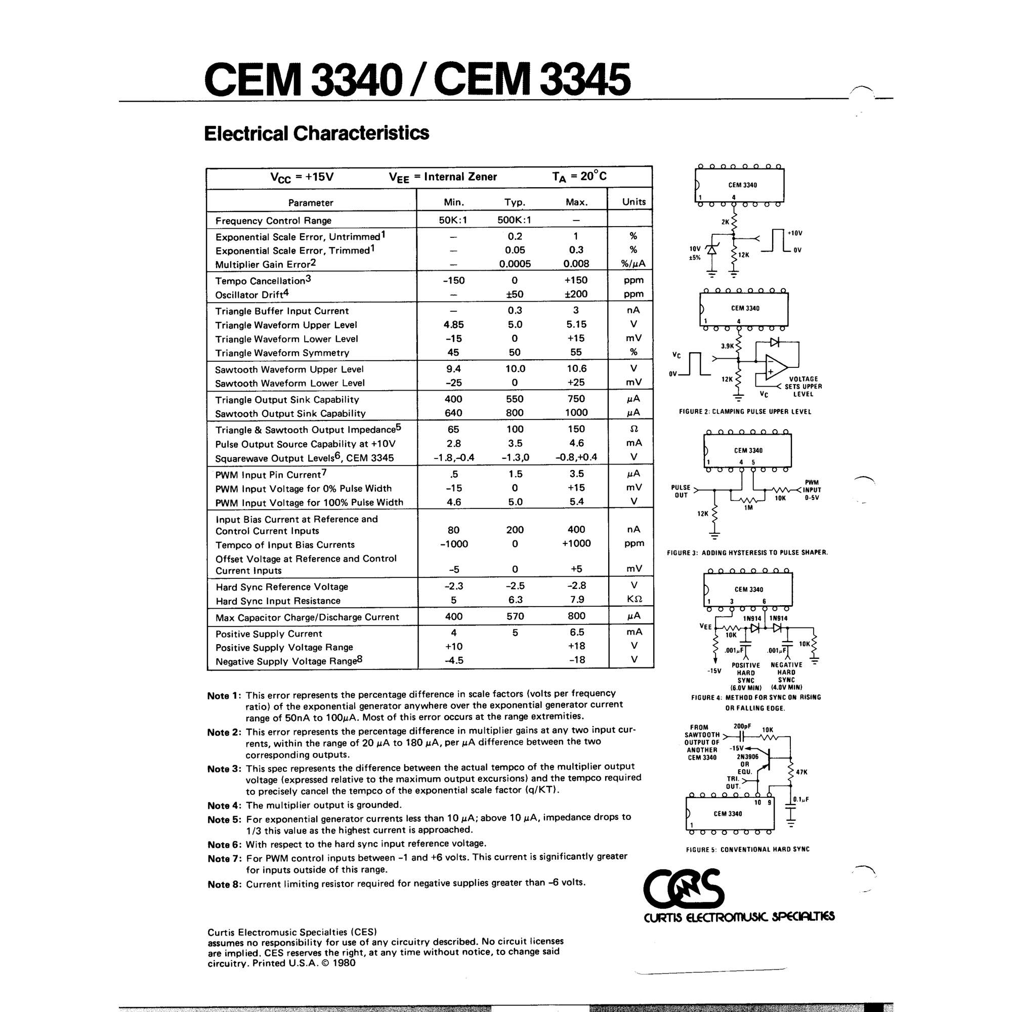 Curtis CEM3340 IC - Reissued VCO Chip