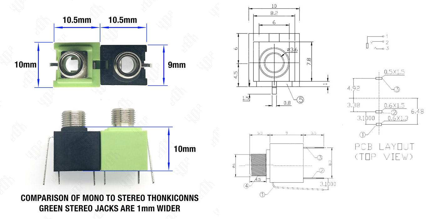 Thonkiconn – 3 5mm Jack Sockets