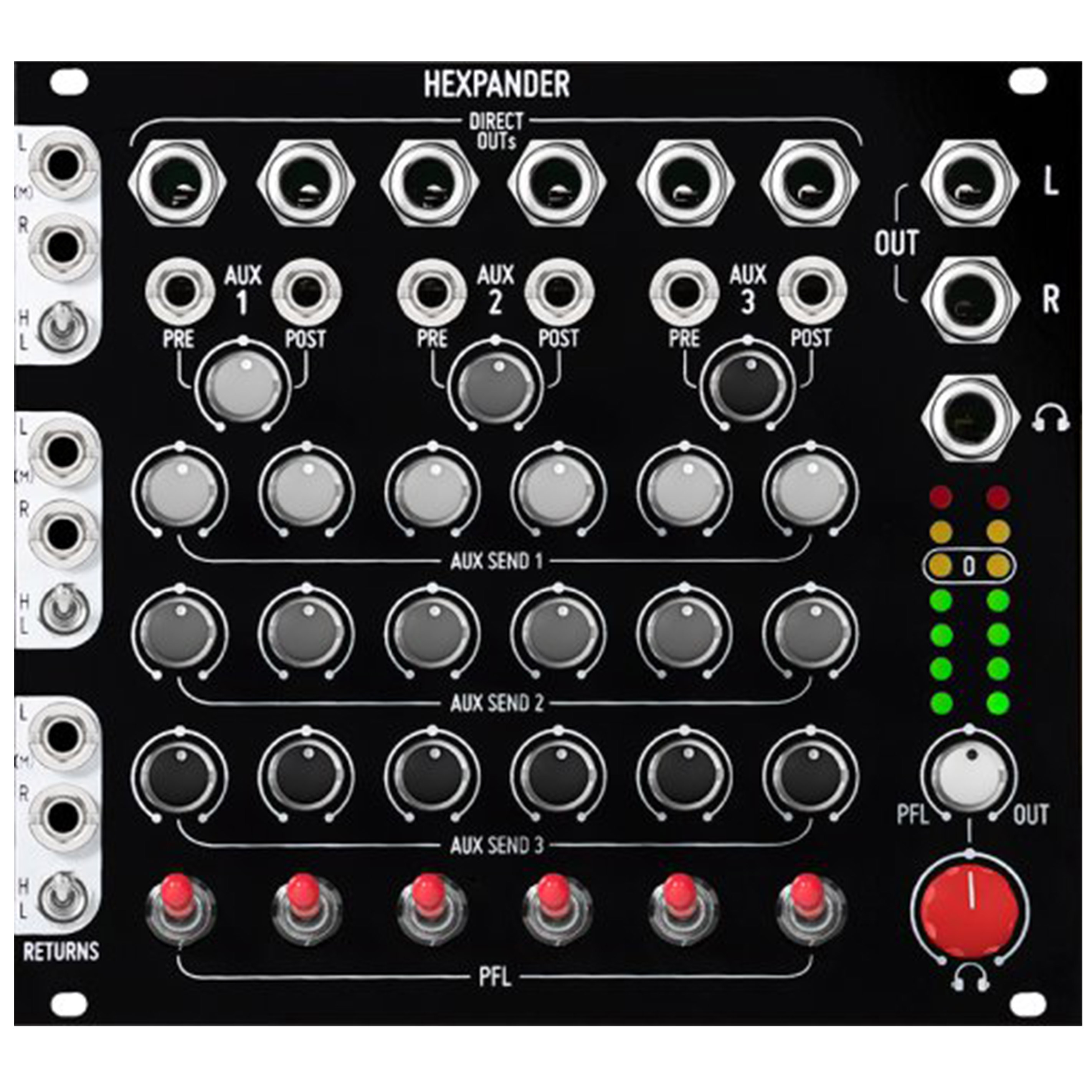 Befaco Hexmix System Full Diy Kits Thonk Synthesizer Audio Mixer With One Transistor
