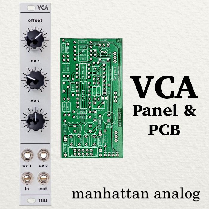 Manhattan Analog - VCA- Panel / PCB