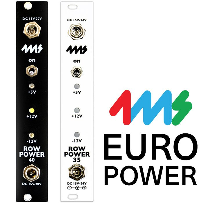 white 4ms Row Power 25 Power Solution For Eurorack Systems