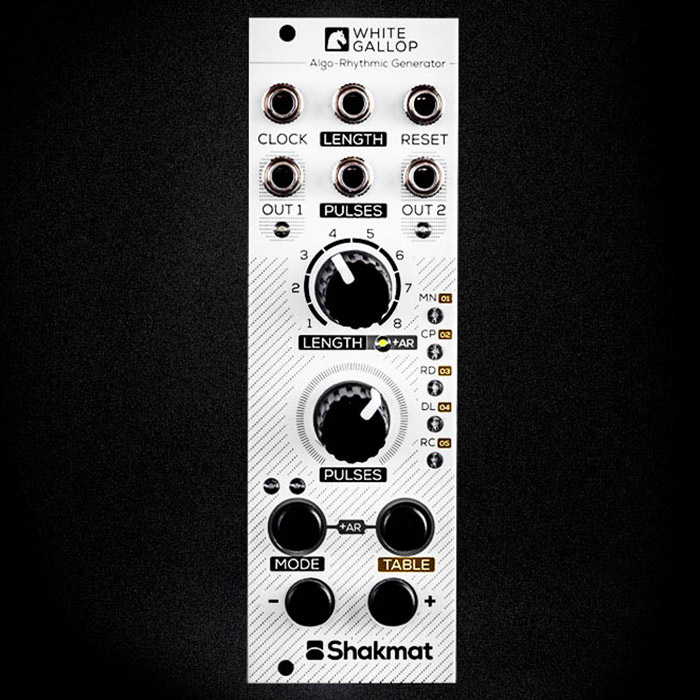 shakmat modular white gallop full diy kit thonk diy synthesizer kits components. Black Bedroom Furniture Sets. Home Design Ideas